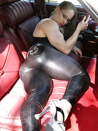 Big ass in latex
